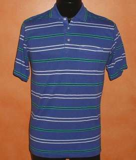 mens striped polo shirt knightsbridge 80s skinny emo tee Medium