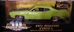 Ertl 1:18 1971 Ford Torino Lime Green
