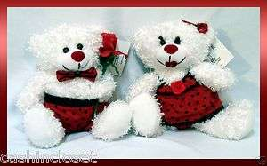 FIB Brand VALENTINE BEARS Boy & Girl Couple PLUSH Happy Valentines