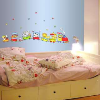 Toy Train Kids Room Wall Stickers Home Decals Mural