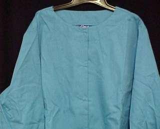 Scrubs Malibu Blue Scrub Jacket Round Neck 3X New