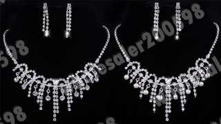 2sets 2styles Austrian Rhinestone Necklaces Earrings