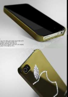 5Colors Shiny Luxury Mirror Bling Diamond Crystal Case Skin for