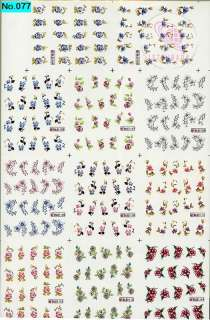 220 NAIL IMAGES IN 1 NAIL ART TATTOOS STICKER WATER DECAL H
