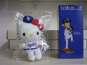 HELLO KITTY Plush Doll + Clayton Kershaw DODGERS Bobble Bobblehead SGA