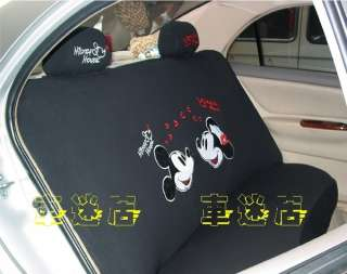 Mickey & Minnie Mouse Car Seat Cover Full Set 10 pcs