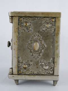 Antique Large Cast Iron Dbl Door Safe Still Piggy Bank