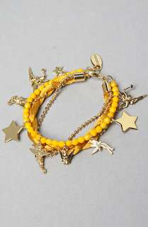 Disney Couture Jewelry The Tinkerbell Charm Bracelet in Gold