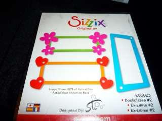 New SIZZIX ORIGINALS Die BOOKPLATES #2 (655023)