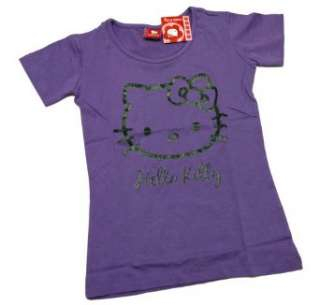 Hello Kitty   Girly T Shirt im stylischen Glitzerlook