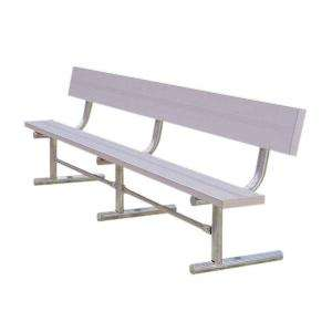 . Park Bench with Back Portable, Aluminum G940P A15