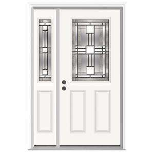 JELD WEN Cordova 36 in. x 80 in. Primed White Prehung Right Hand 1/2