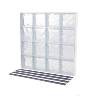 TAFCO WINDOWSNailUp2 Glass Block Window, 32 in. x 32 in., Wave Pattern