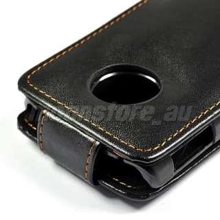 FLIP LEATHER CASE COVER FOR LG Optimus 7 E900 BLACK