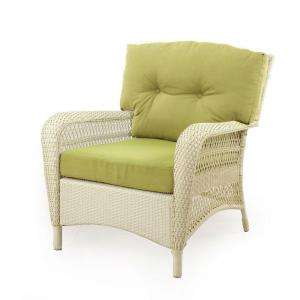 Patio Lounge Chair with Green Cushions 65 809556/1
