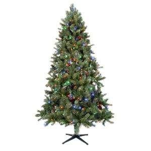 Lit Wesley Pine Tree Multi Color WES T1400540LEM