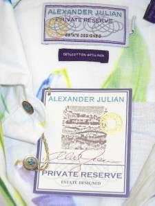 NWT ALEXANDER JULIAN Private Reserve Floral Print Shirt