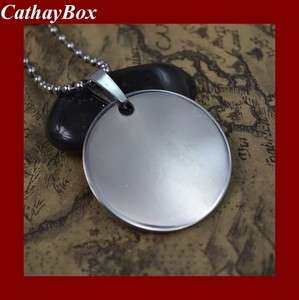 Wholesale High Polished Stainless Steel Blank Round Dog Tag Pendant