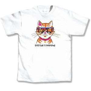 Cat Lover T Shirt Humor Tee Cattitude is Everything New