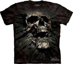 Mountain T Shirt   Breakthrough Skull   SKULBONE   The Mountain Tee