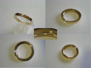 NIESSING 750 GOLD BRILLANT DIAMANT SPANNRING RING 16,8