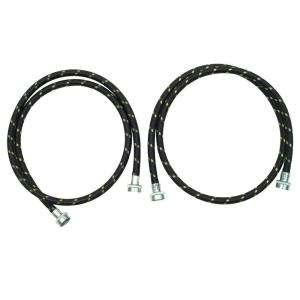 Whirlpool 5 Ft. Nylon Braided Washer Fill Hose Kit   2 Pack 8212487RC