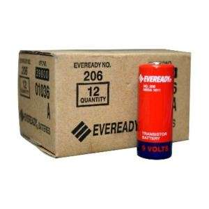 12pk Eveready 206 Carbon Zinc 9V Batteries NEDA 1611