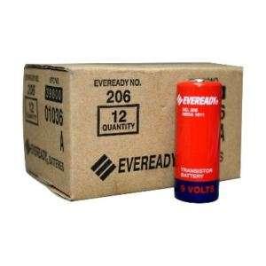 12pk Eveready 206 Carbon Zinc 9V Batteries NEDA 1611