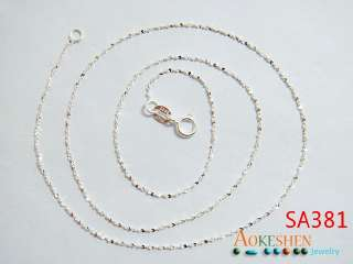 18inchs ITALY Style 925 Sterling silver Jewelry Chain Necklace SA381