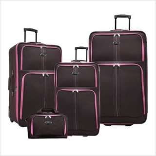 Traveler New Oregon 4 piece Expandable Luggage Set Chocolate
