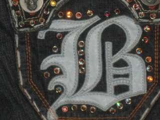 NWT Laguna Beach Jeans Mens LAGUNA SWAROVSKI CRYSTALS ROBINS JEANS SZ