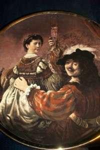 Rembrandt & Saskia Portrait Plate Lord Nelson Pottery