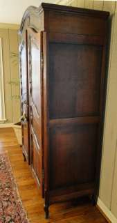 Wardrobe ARMOIRE~Tiger Oak Recessed Panels~Provence Country~OLD