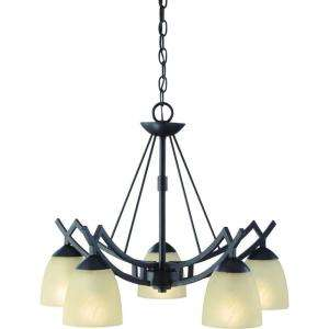 Hampton Bay Altham 5 Light 79 3/4 in. Bronze Chandelier 27702 at The