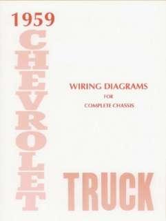CHEVROLET 1959 Truck Wiring Diagram 59 Chevy Pick Up