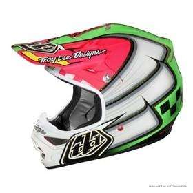 Troy lee designs AIR Motocross MX Helm 2012 WING IT grün/pink, LG