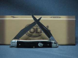 New!! Colt Titanium Muskrat Knife Smooth Black.CT315