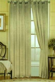 Caroline Luxury 55 x 84 Faux Silk Interlined Grommet Window Panel