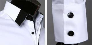 New Mens Luxury Stylish Casual Dress Slim Fit Shirts 2 Colours 4 Size