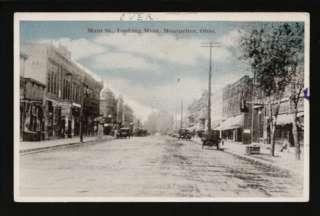 Montpelier Ohio OH 1918 Main Street Stores & Autos