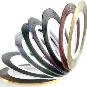 Farben Nail Art Deko Zierstreifen Fäden Stripes Sticker Set
