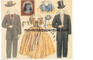 ViNTaGE GONE WITH WIND PAPER DOLLS LAZER REPRO ORG SZ