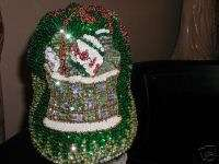 SEQUIN EASTER BUNNY BASKET BASEBALL CAP  EGGS NEW