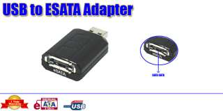 "USB 2.0 to e SATA Adapter For PC CD/DVD 2.5"" 3.5"" SATA HDD Hard"
