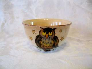 NEW Tabletops Lifestyles WICKED HOLLOW Owl Handcrafted Bowl