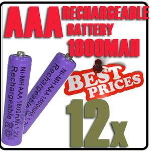 1800mAh 1.2V Ni MH Rechargeable battery 3A Purple Cell for  RC Toys