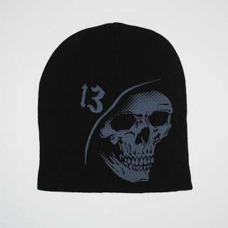 New Lucky 13 Gothic Punk Rockabilly Psychobilly Grim Reaper Grey Black