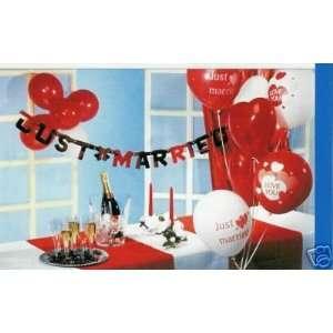 Just Married Set Luftballons Girlanden Hochzeit: .de: Spielzeug