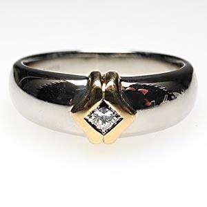 Jaffe Princess Cut Diamond Mens Wedding Band Ring 18K White Gold