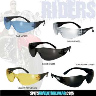 Rider Safety Glasses Various Lens Colors Available